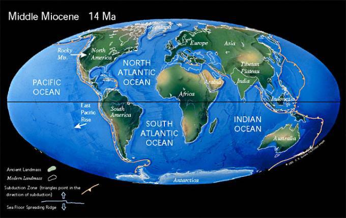 Resultado de imagem para neogene world map